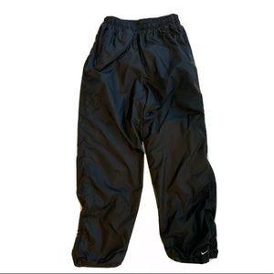 Nike Black Track Wind Pants Jersey Lined M(8-10)